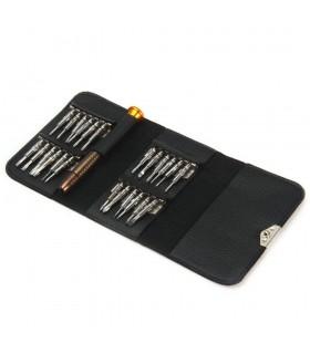 پیچ گوشتی چند کاره XW-6025 همراه با کیف و 25 مدل سر مختلف