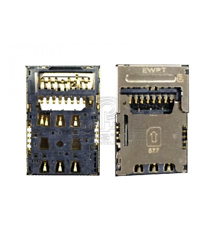 کانکتور سیم کارت ال جی K430 - LG K10
