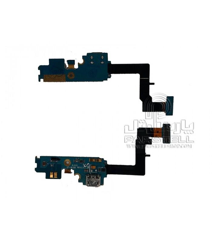 فلت شارژ-میکروفن سامسونگ گلگسی I9100-S2