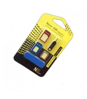 آداپتور فلزی تبدیل سیم کارت میکرو و نانو به سیم کارت عادی مدل Nano