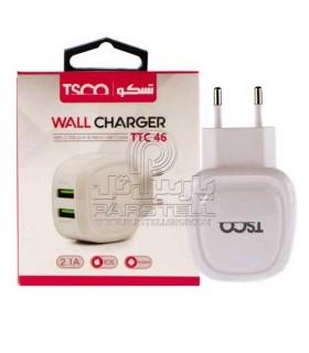 شارژر دیواری با کابل میکرو یو اس بی تسکو TSCO TTC 46