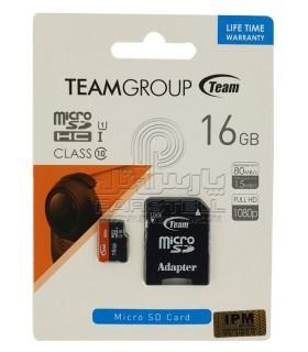 کارت حافظه تیم MICROSD TEAM 16GB