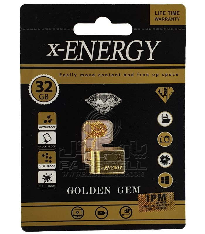 فلش مموری ایکس انرژی X-ENERGY 32GB مدل GOLDEN GEM