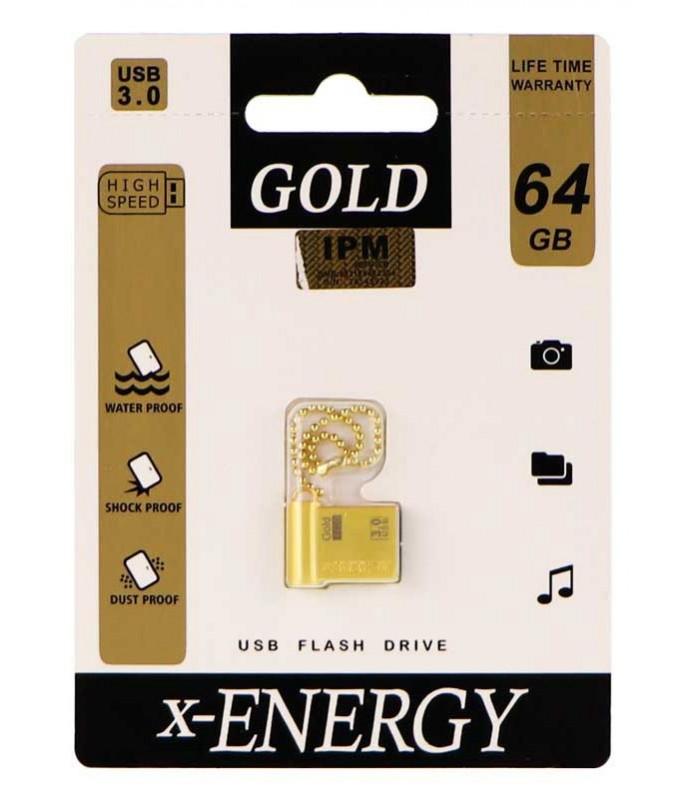 فلش مموری ایکس انرژی X-ENERGY 64GB مدل GOLD